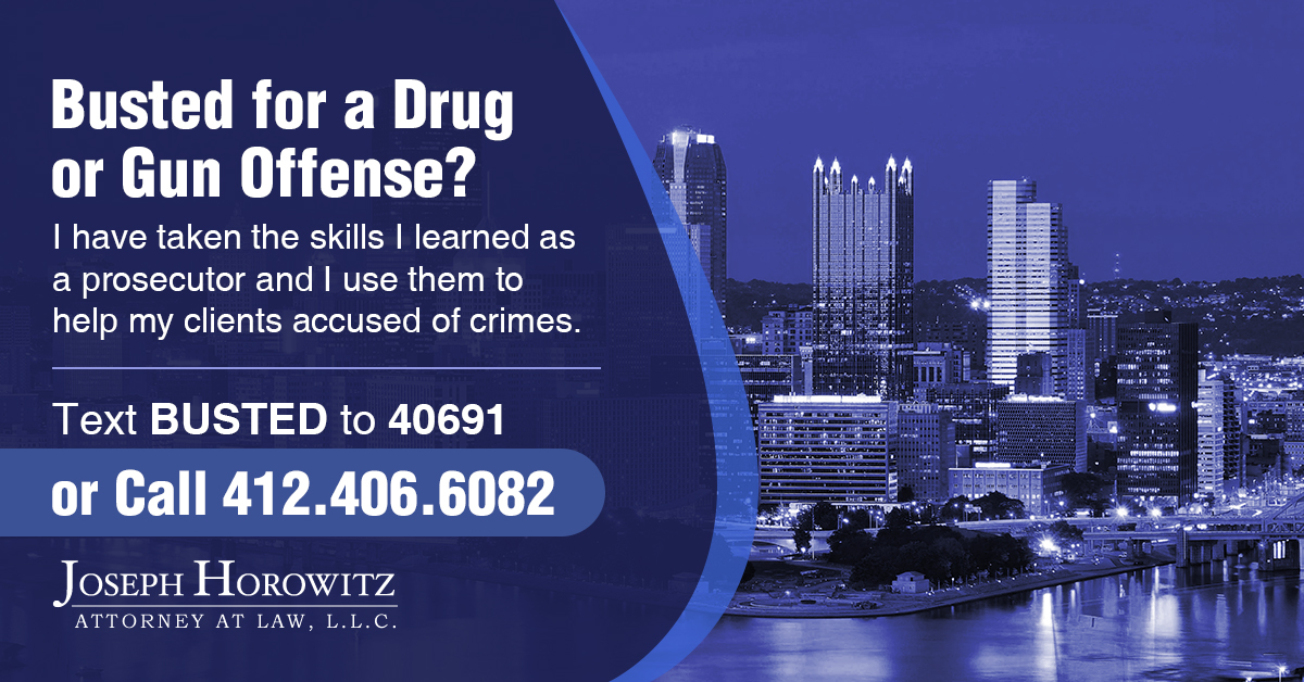 drug or gun offense1 Joseph Horowitz Law
